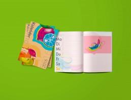 Kunst Handel Kalender selbst gestalten Popart Produktbedruckung