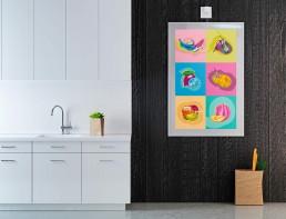 Kunst Handel Popart modern mit eigenen Motiven