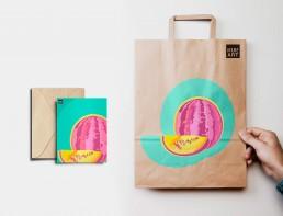 Kunst Handel Tüten bedrucken Werbeauftritt mit Kunst