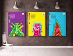 PETA Deutschland individuell Plakate mit Tiermotiven Moderne Kunst